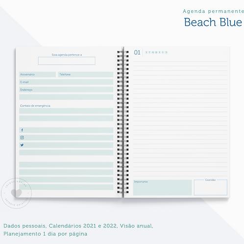 Agenda Permanente Beach Blue (1 dia por página)