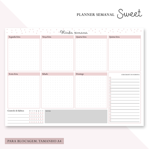 Planner Semanal Sweet