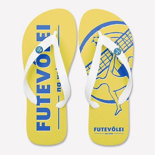 Chinelo FTV -Amarelo e Azul