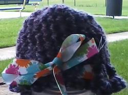 Crocheted Unisex Purple Preemie Hat