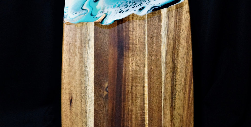 White, green and bronze Wood Serving Board