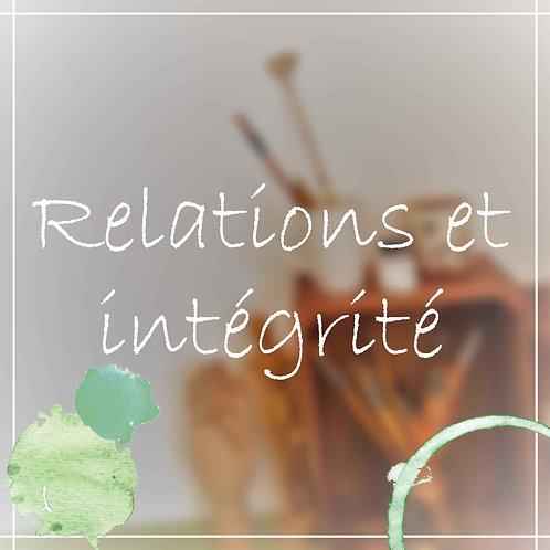 Atelier Relations & Intégrité