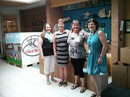 Colleen Gray and a few of the staff from St. Anne's who are involved in shipping useful items to Pang.