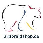Polar Bear logo of Art for Aid and URL