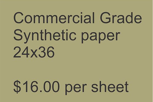 24x36 Heavy Commercial Grade Synthetic Paper