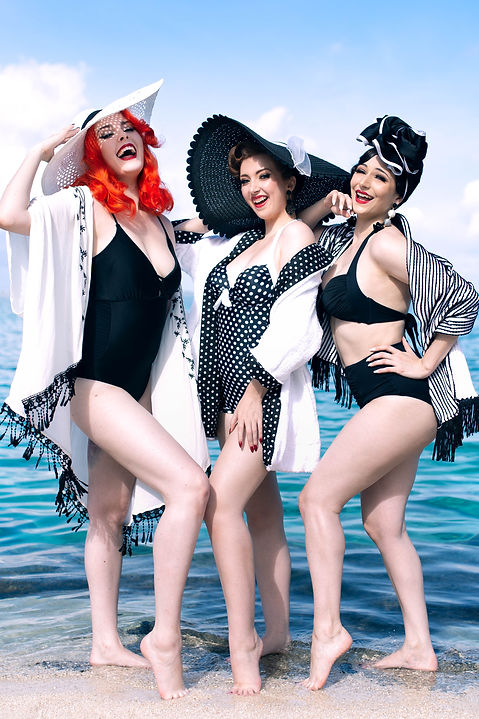 Ginger Tonic, Citrine Velvetine & Lorelei photographed by KTB on the 2018 Burlesque Cruise