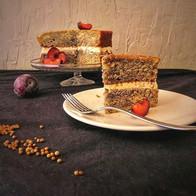 Plum and corriander cake