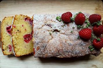 Raspberry thyme loaf