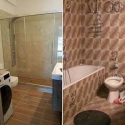 ανακαίνιση μπάνιου πριν-μετά