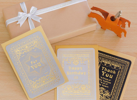 【New Item】Letterpress Greeting Card 3種販売開始