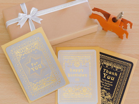 【New Item】Letterpress Greeting Card 3種販売開始