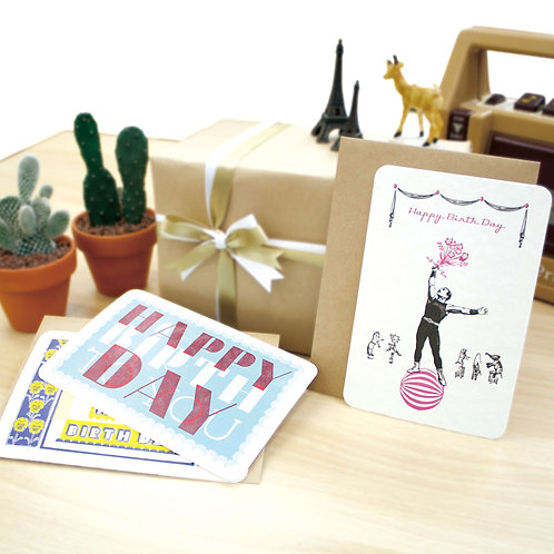 Letterpress Greeting Card  / Happy birth day