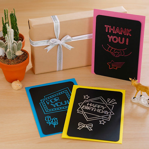 Letterpress Greeting Card  / NEON