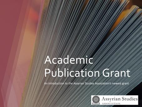 Announcement: Winner of ASA's Academic Publication Grant