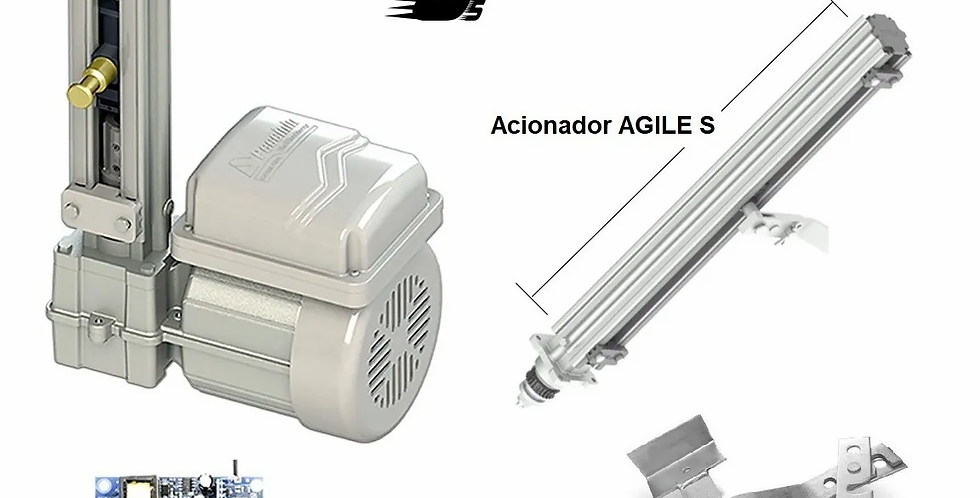 Kit Motor Portão Basculante 1/4 Gatter Peccinin 300kg 8 Seg