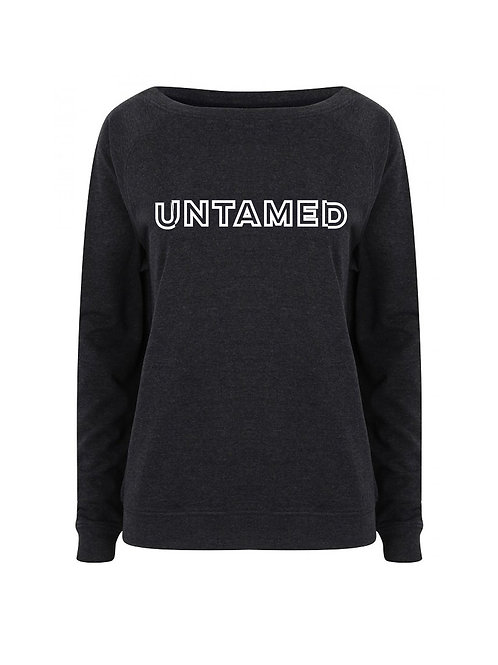 Untamed - Block Letters - Ladies Relaxed Fit Sweater