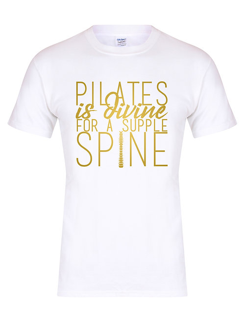 Pilates Is Divine For A Supple Spine - Unisex T-Shirt