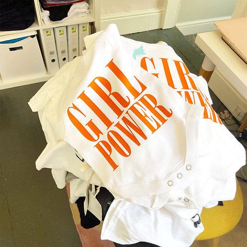Girl Power - Babygrow - White