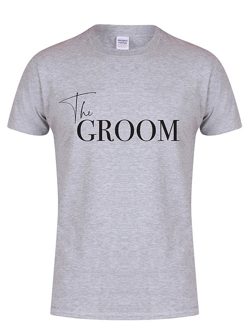 The Groom - Semi Personalised - (Name on Back) - Unisex Fit T-
