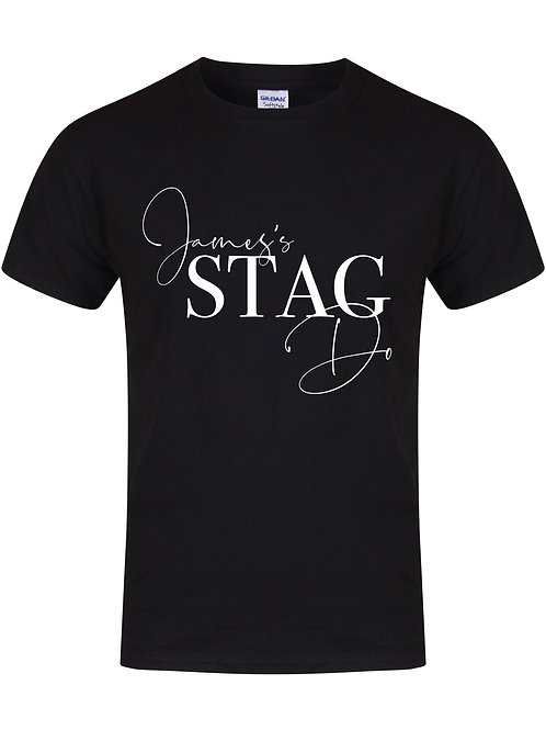 'Name' Stag Do - Fully Personalised Name (Front & Back) - Unisex Fit T-
