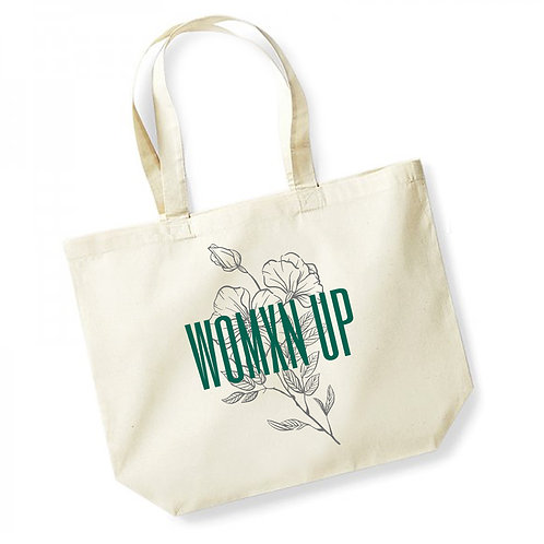 Womxn Up - Large Canvas Tote Bag