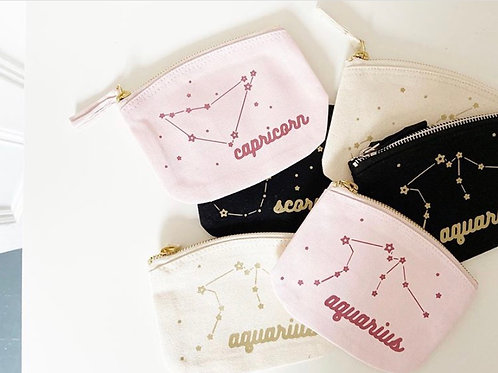 Constellation - Starsign - Zip Purse