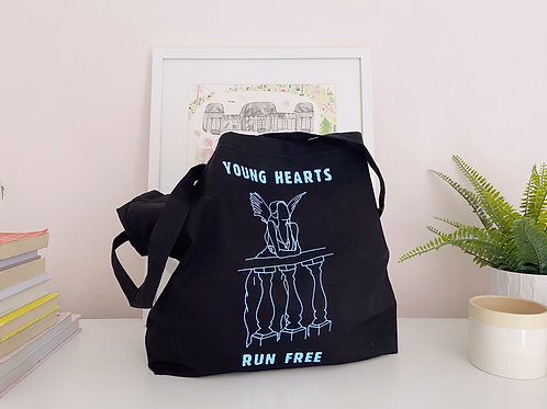 Young Hearts Run Free - Large Canvas Tote Bag