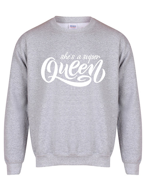 She's A Super Queen - Unisex Fit Sweater