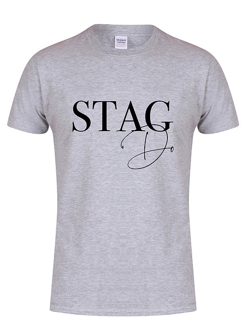 Stag Do - Semi Personalised - (Name on Back) - Unisex Fit T-