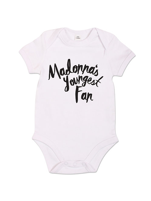 Madonna's Youngest Fan - Babygrow - White