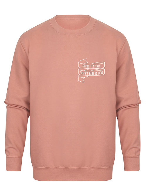 Sorry I'm Late I Didn't Want To Come - Unisex Fit Sweater