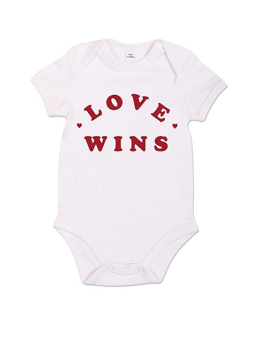 Love Wins - Babygrow - White