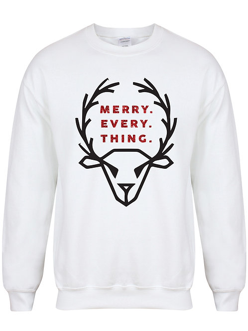 Merry. Every. Thing - Unisex Kids Sweater