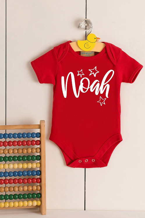 Personalised Name - Star - Babygrow