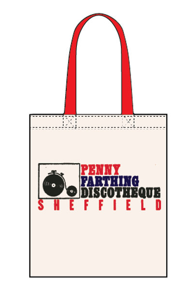 Penny Farthing Disco - Canvas Tote Bag
