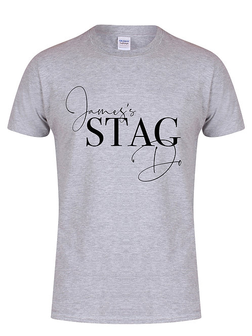 'Name' Stag Do - Semi Personalised - (Name on Front Only) - Unisex Fit T-