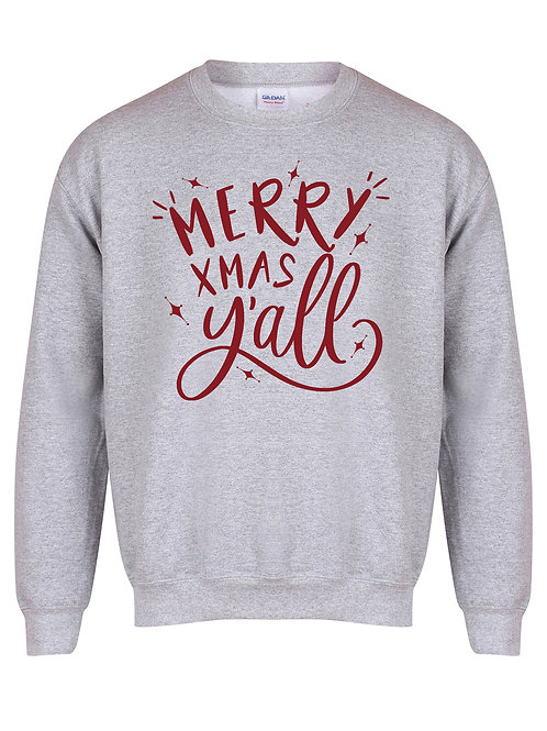 Merry Xmas Y'all - Unisex Fit Sweater