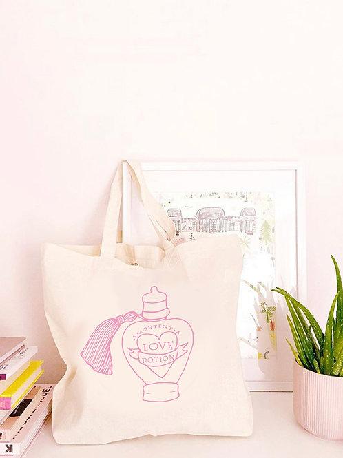 Love Potion - Large Canvas Tote Bag