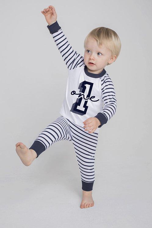 Personalised Birthday - Stripe Pyjama Sets