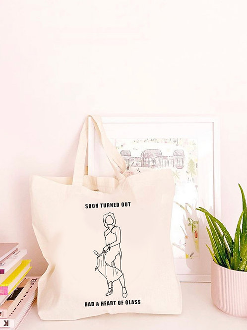 Heart of Glass - Large Canvas Tote Bag