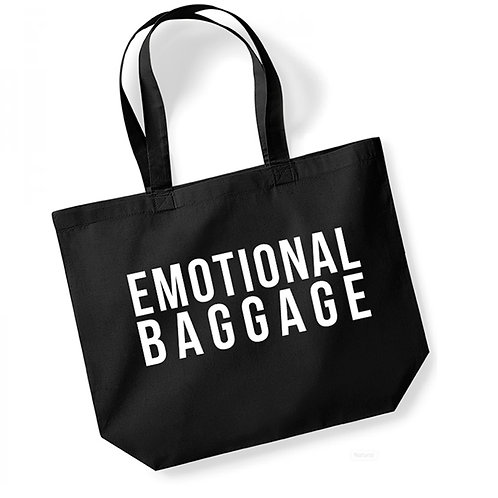 Emotional Baggage - Large Canvas Tote