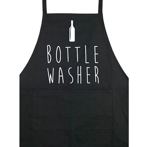 Bottle Washer - Apron - Black