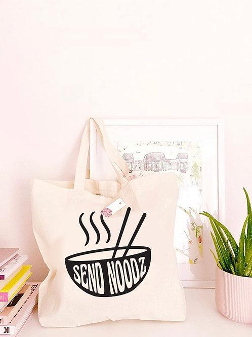 Send Noodz - Large Canvas Tote Bag