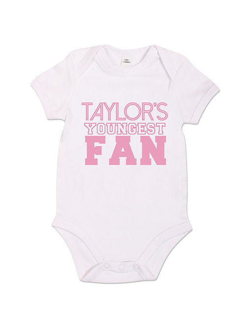 Taylor's Youngest Fan - Babygrow - White