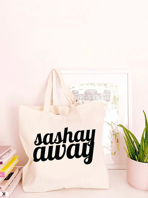 Sashay Away - Large Canvas Tote Bag