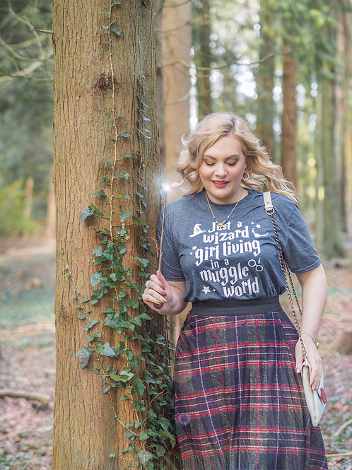 Just a Wizard Girl Living In A Muggle World - Unisex Fit T-Shirt