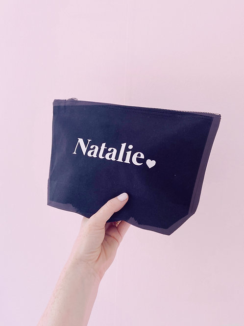 Personalised 'Name' and 'Message' - Make Up/Cosmetics Bag
