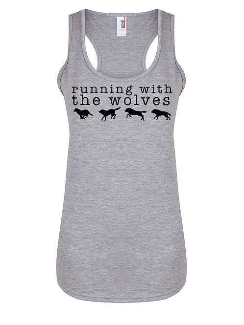 Running With The Wolves - Women's Racerback Vest