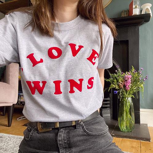 Love Wins - Velvet Flock - Unisex T-Shirt