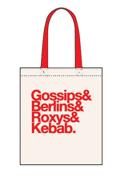 Gossips & Berlins & Roxy & Kebab. - Canvas Tote Bag